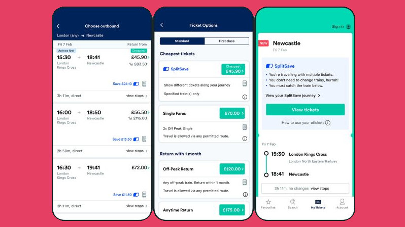 Trainline's new SplitSave option could save you a fortune on train travel