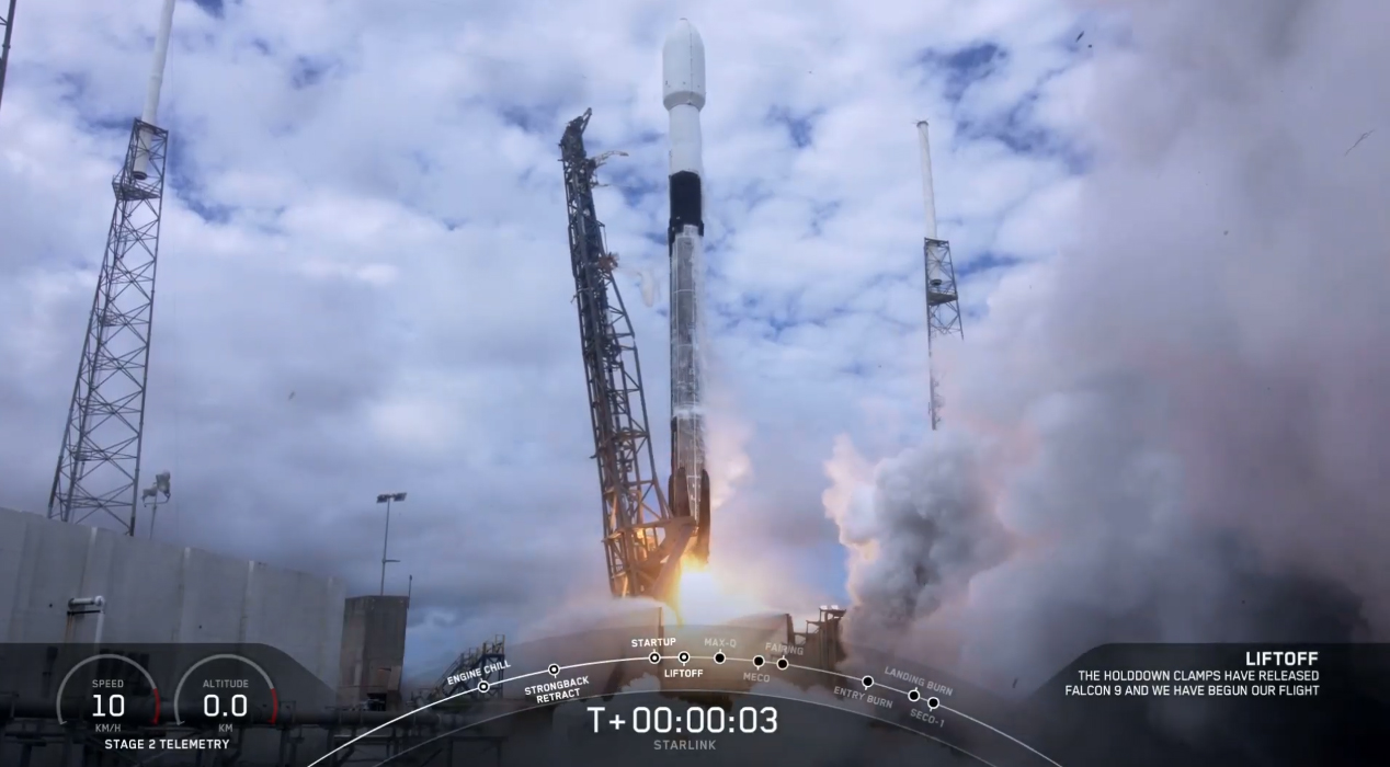 SpaceX launches 60 Starlink satellites, lands rocket at sea in 2nd flight this week