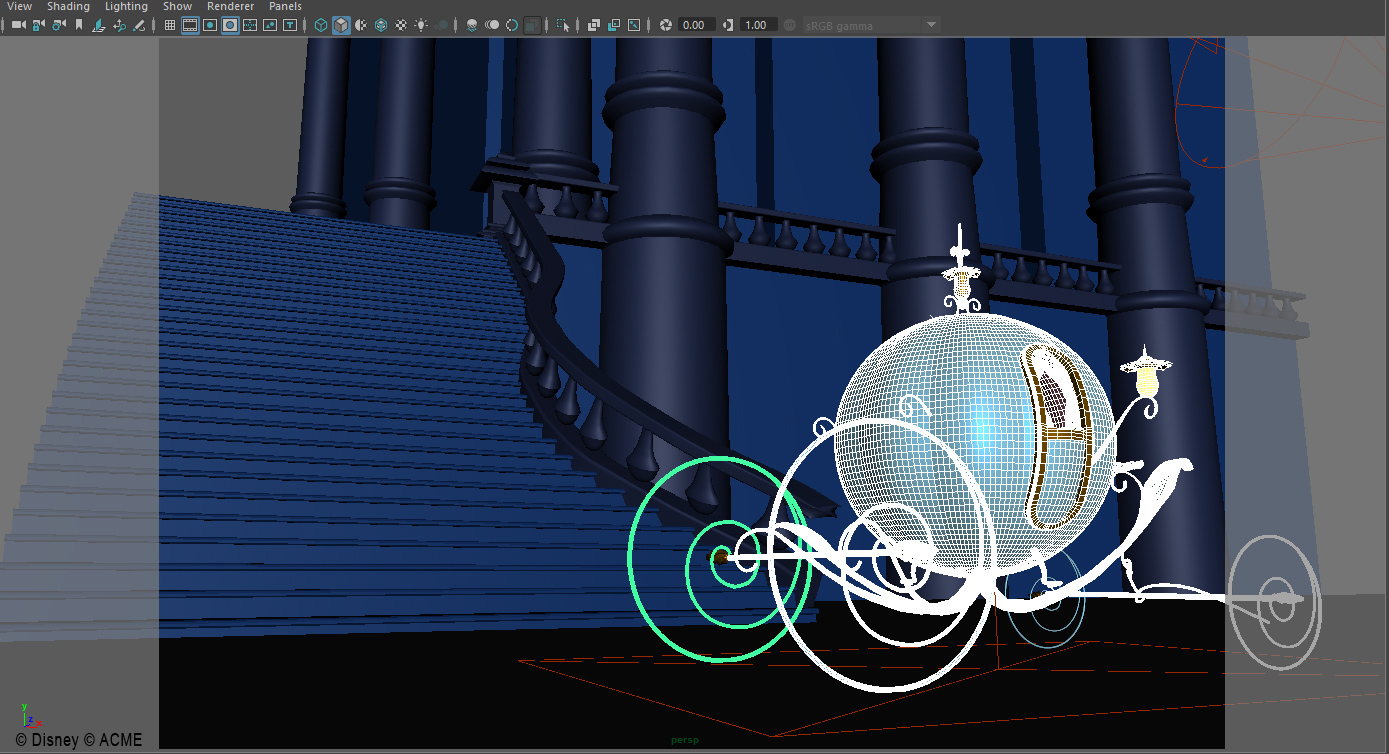 3D model of Cinderella's carriage