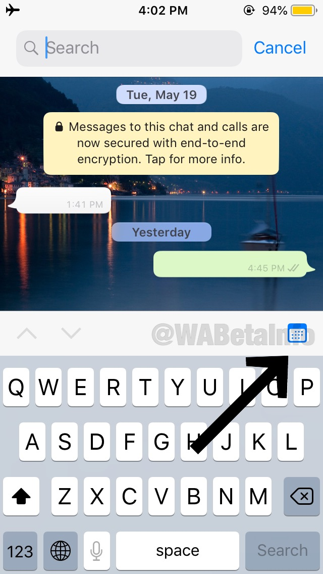Whatsapp Search feature