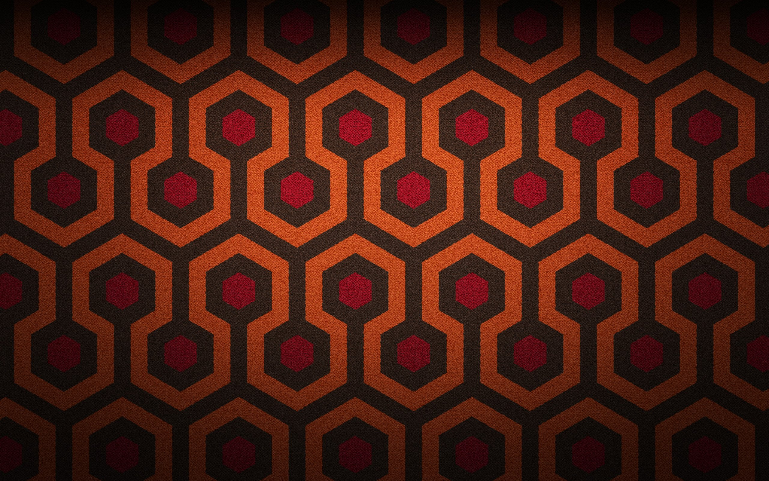 Retro patterned carpet from The Shining