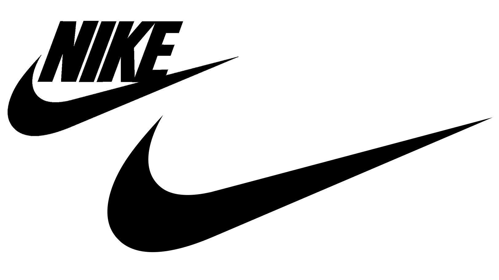 Nike logo before and after