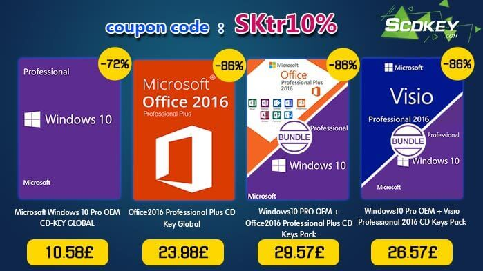 Want Windows licenses for a fantastically low price? Then SCDKey is