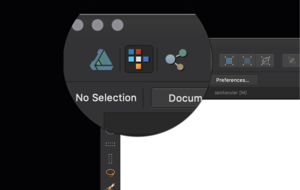 Affinity Designer tool selection