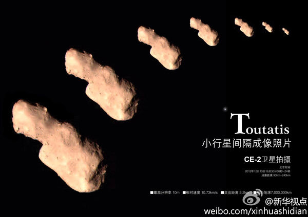 <p>On This Day in Space! </p>Dec. 13, 2012: Chinese spacecraft flies by asteroid Toutatis thumbnail