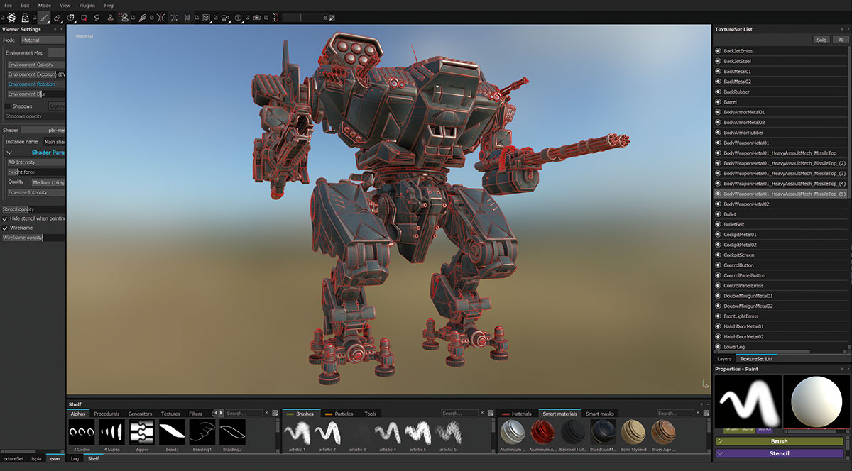 UV mapping in Substance Painter