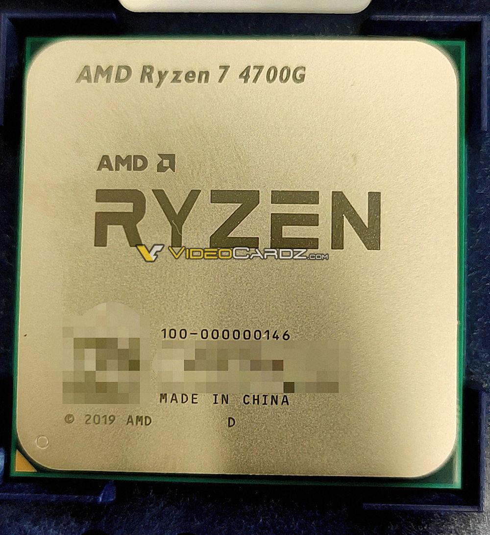 AMD Ryzen 7 4700G Leaked Image