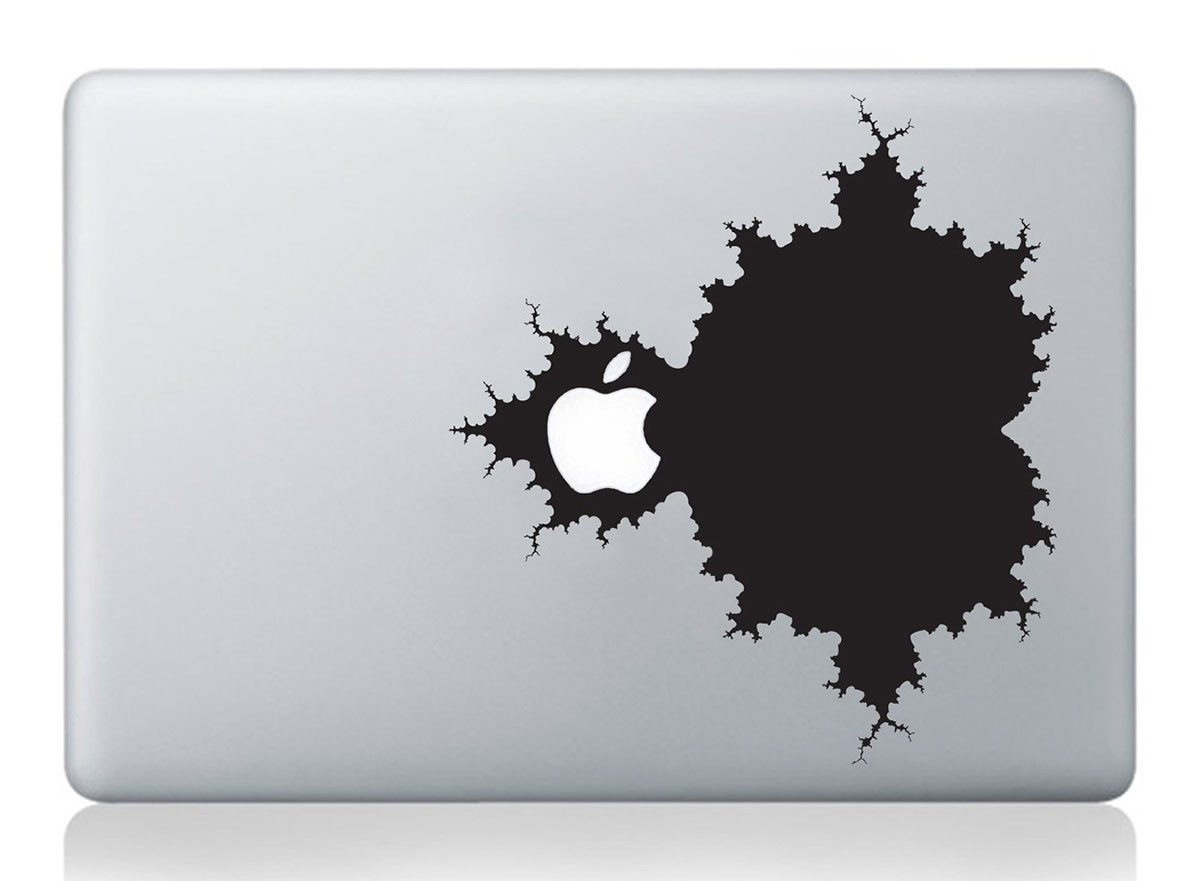 Mandelbrot MacBook decal