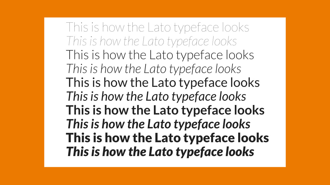 Free web fonts Lato