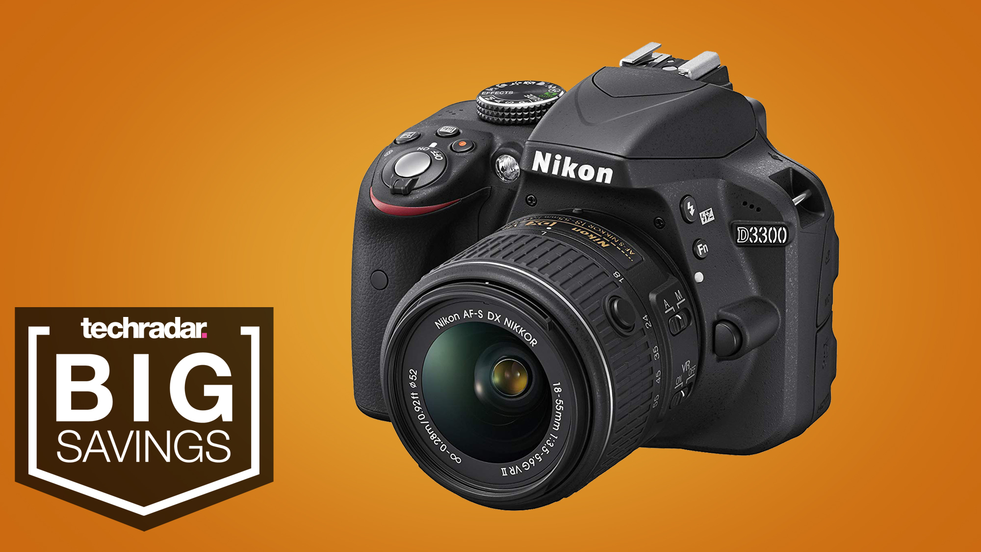 Save an incredible 44% on the Nikon D3300 in this Amazon Lightning deal