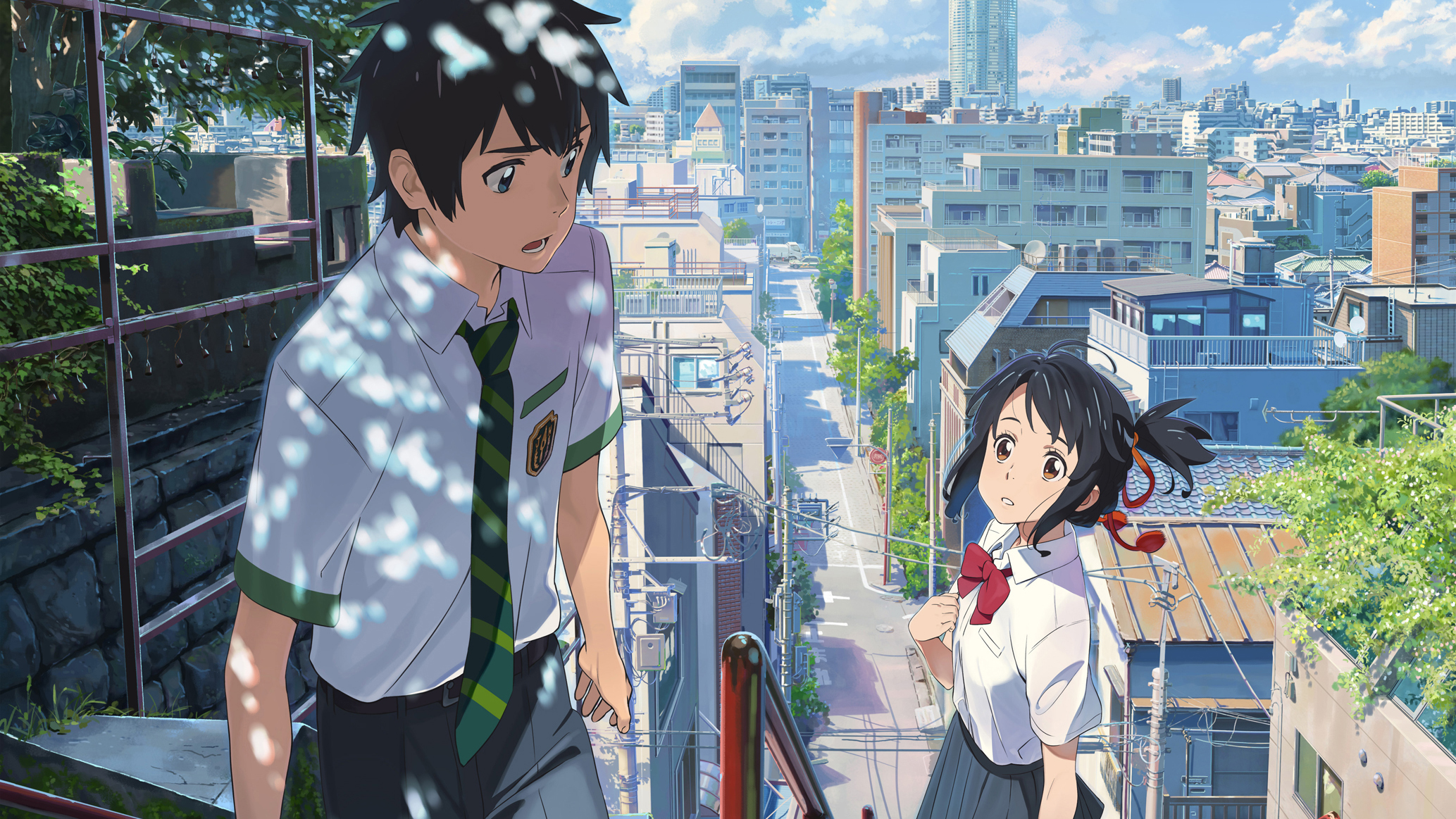 A still from the movie Your Name