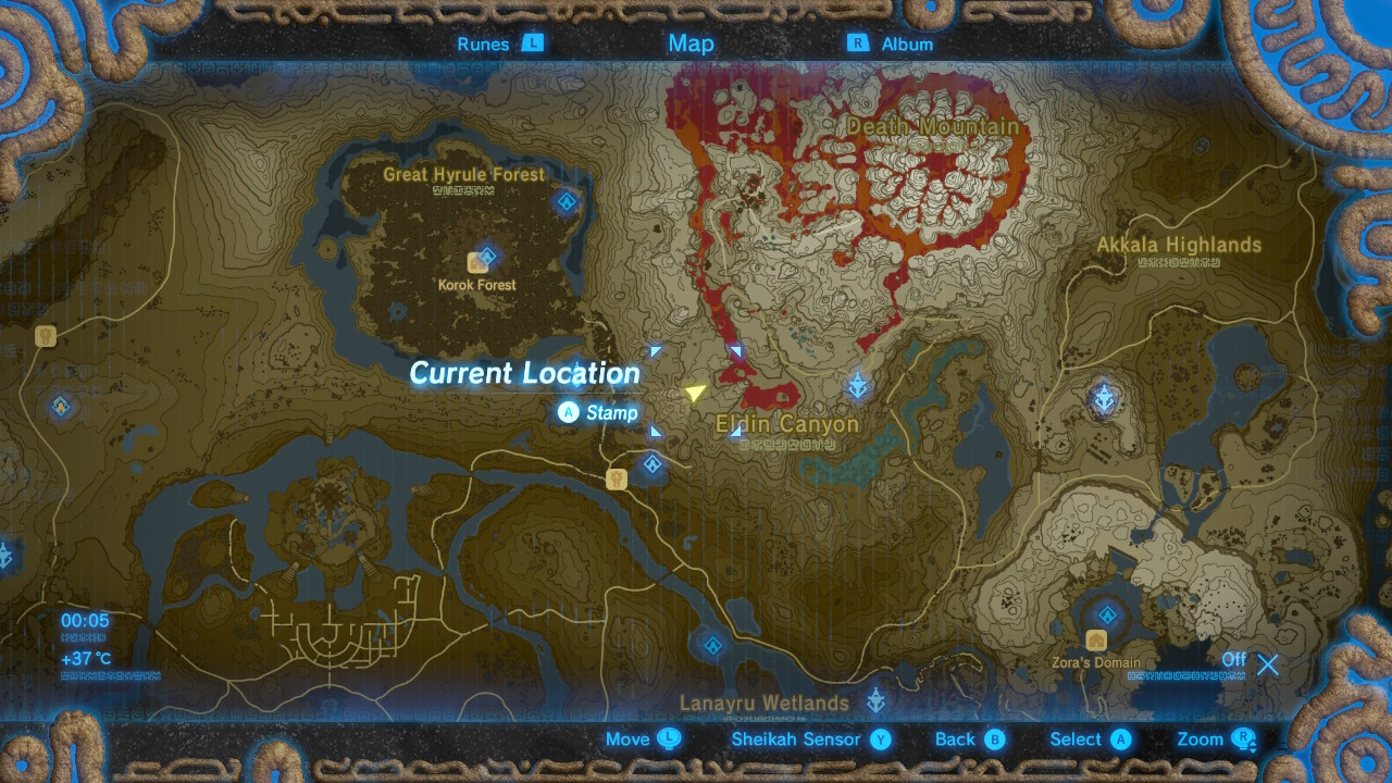Breath Of The Wild Lost Woods Map World Map Atlas
