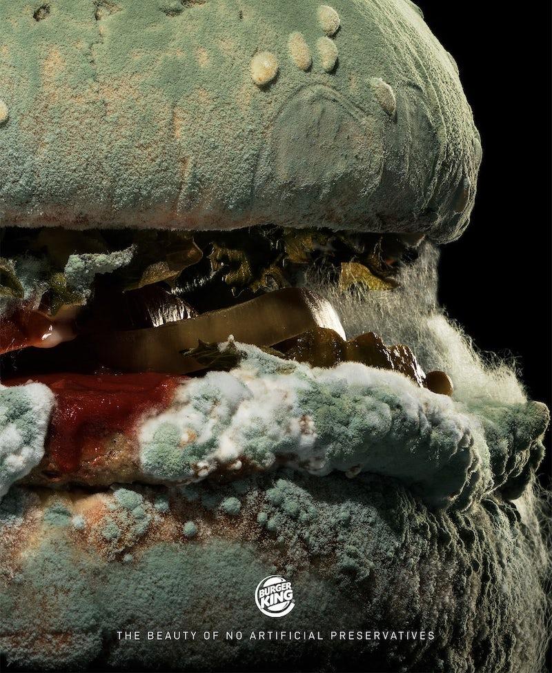 Mouldy burger