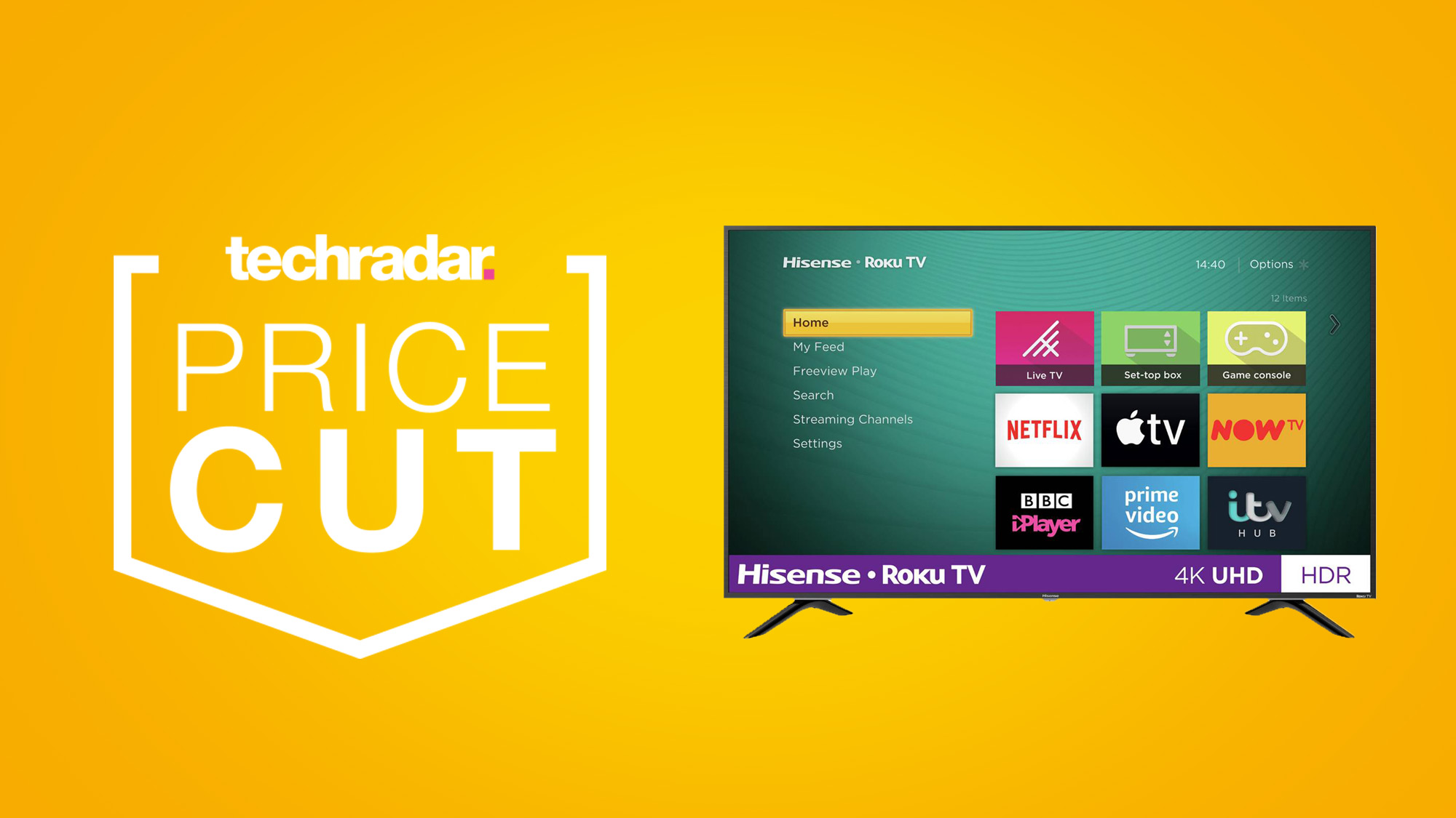 There's £80 off this 43-inch Hisense Roku TV in this fantastic Boxing Day Sale