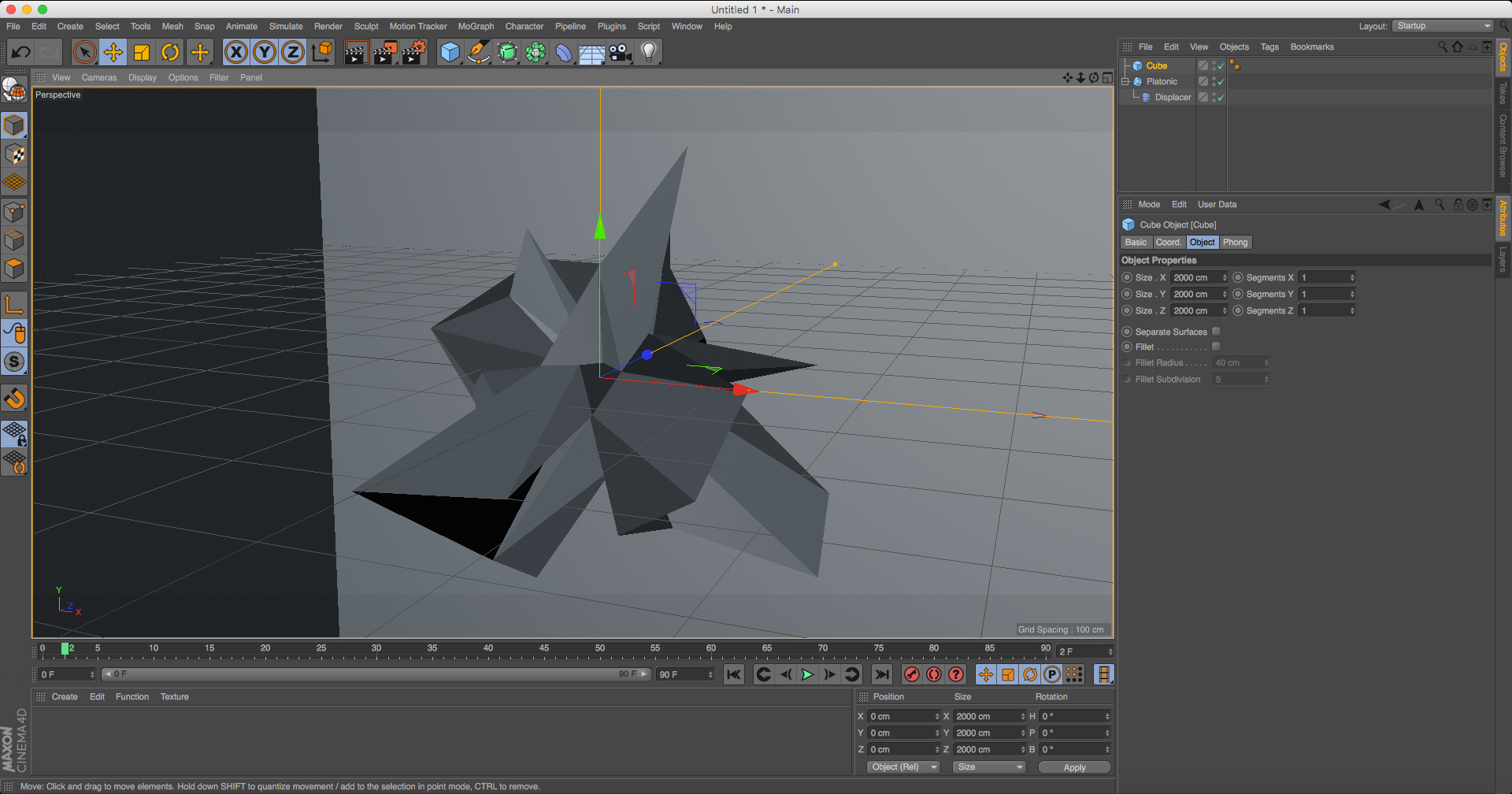 Create a low poly wallpaper in C4D | Creative Bloq