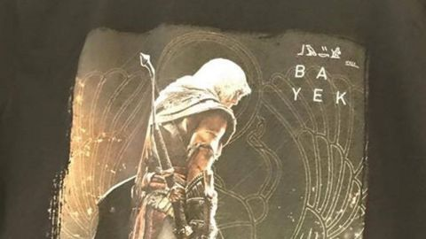 An Assassin's Creed: Origins t-shirt was spotted at a GameStop store - rumor