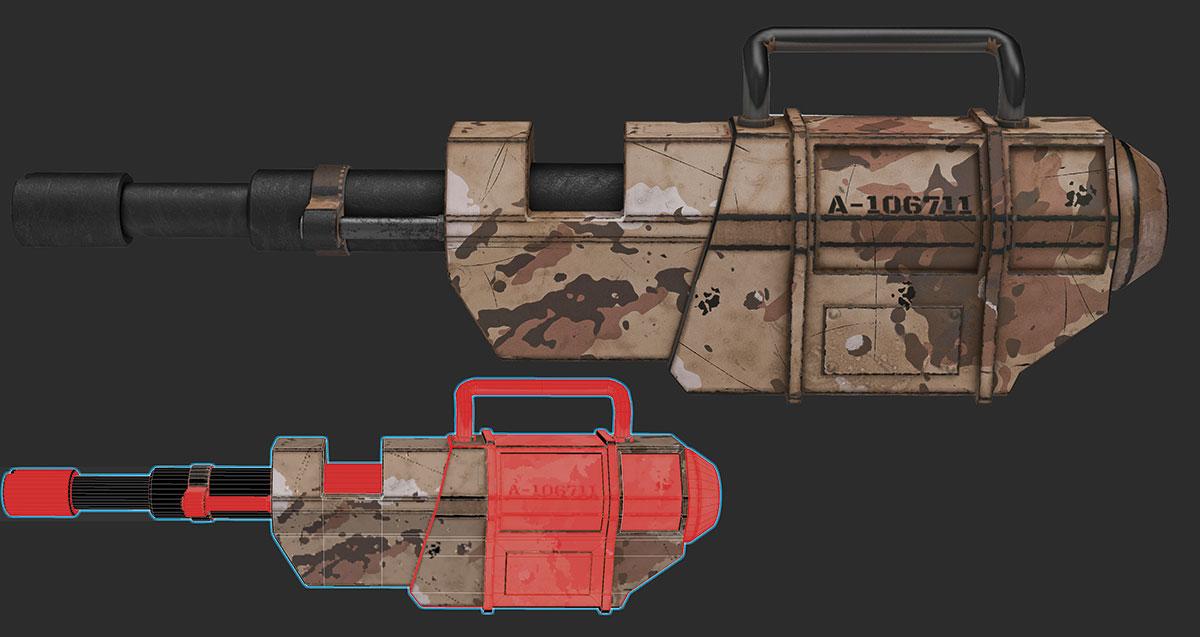 UV mapping: two guns