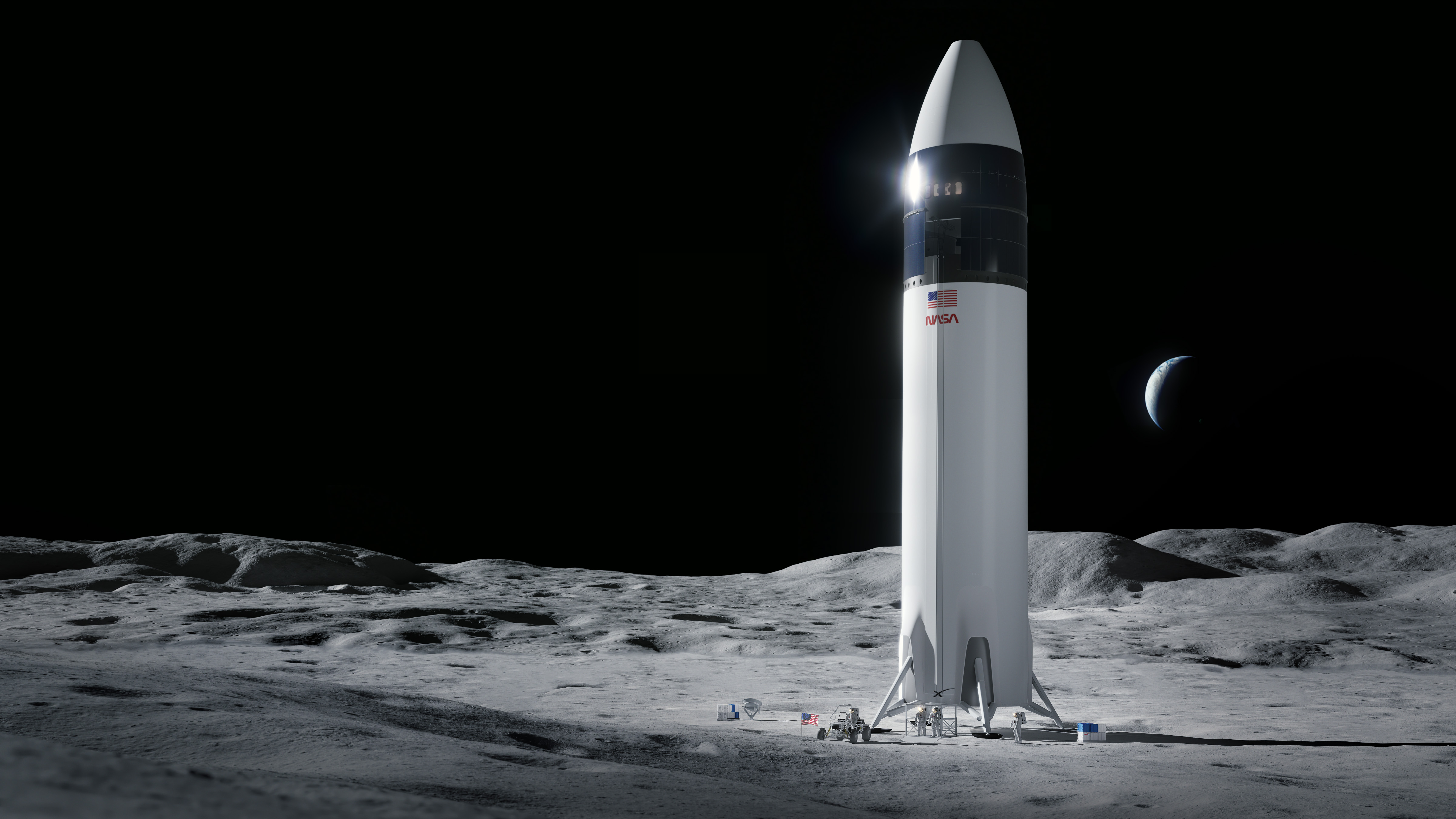 <p>Blue Origin and Dynetics Document protests to GAO after SpaceX wins NASA's moon lander contract thumbnail