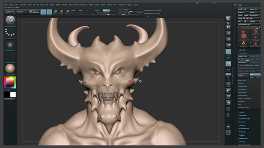 ZBrush tutorials: Create a demonic creature