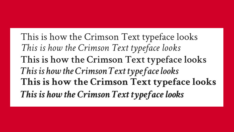 Free web fonts Crimson Text