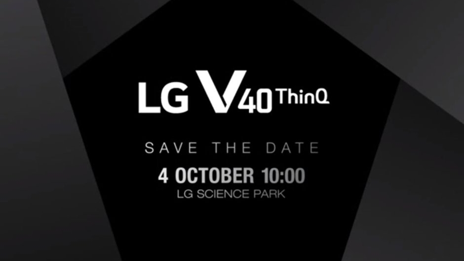 LG V40 ThinQ confirmed for October 4 launch and triple rear cameras teased