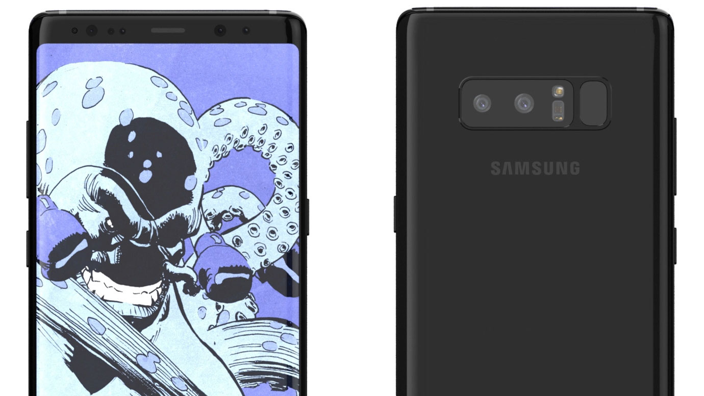 Samsung Galaxy Note 8 render provides a teasing look at the phablet