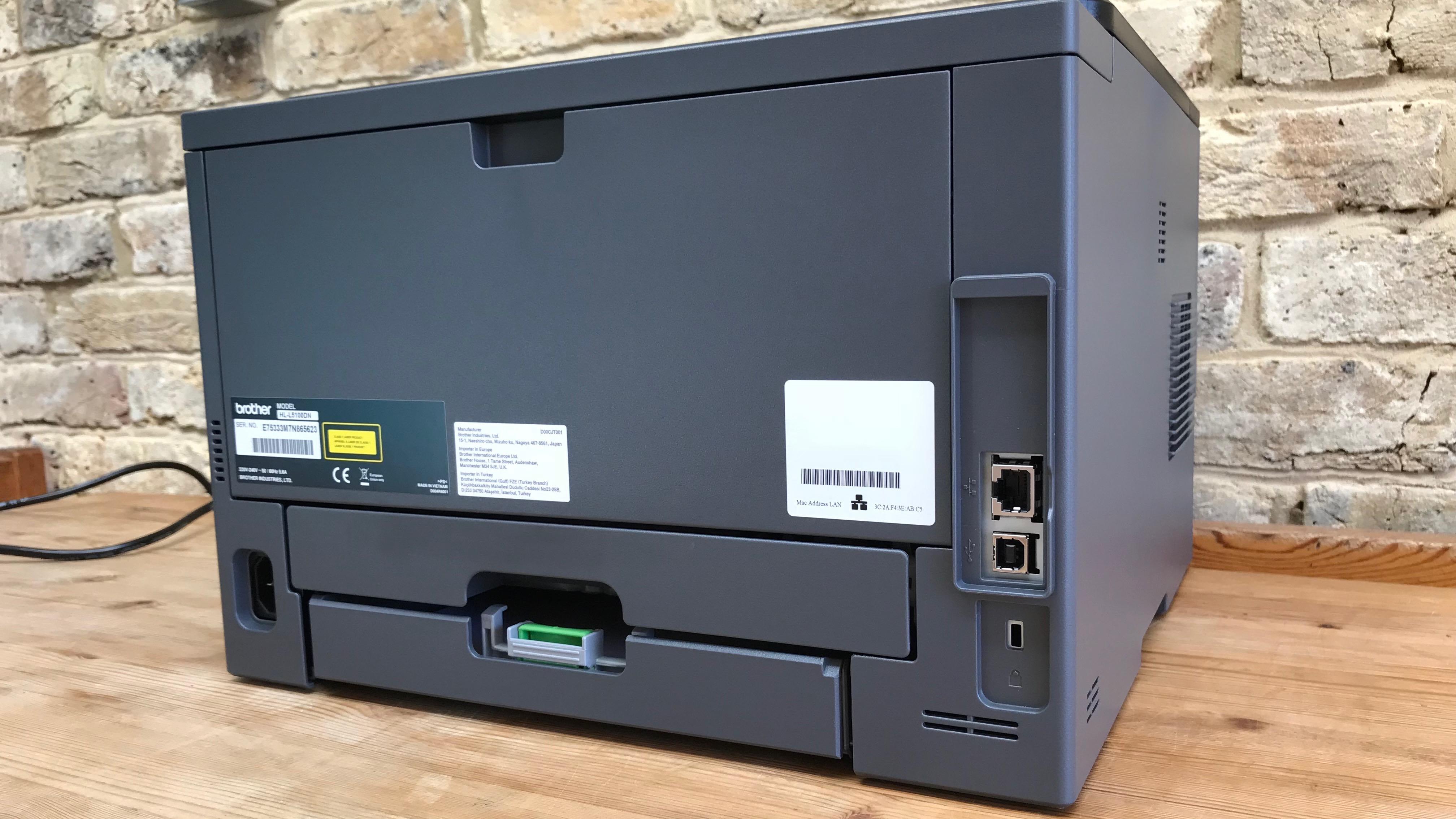 rear of printer