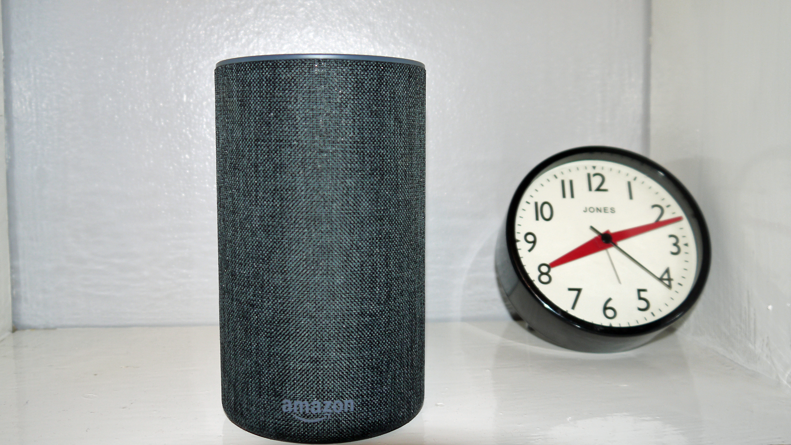 Amazon Echo with clock