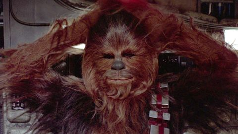 Chewbacca chewing face with wife? 'Star Wars' fans go ape over tweet