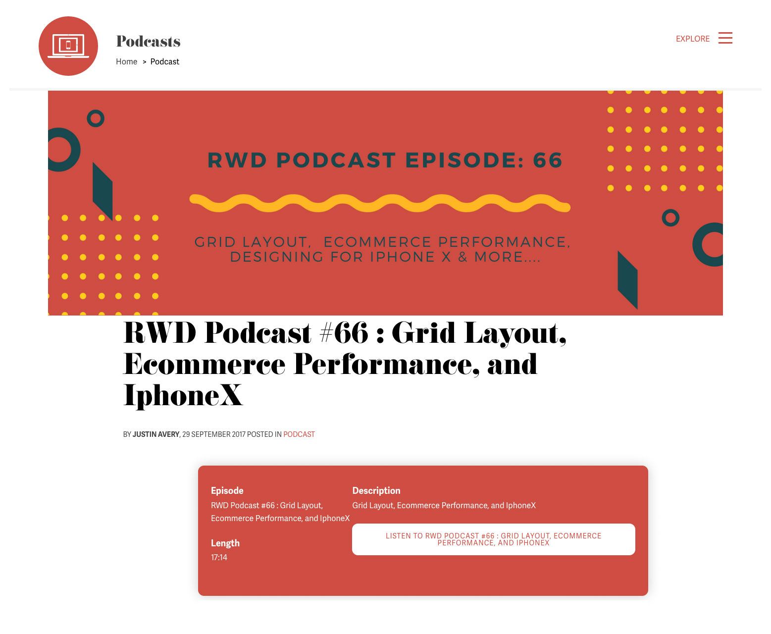 Web design podcasts: Responsive Design podcast