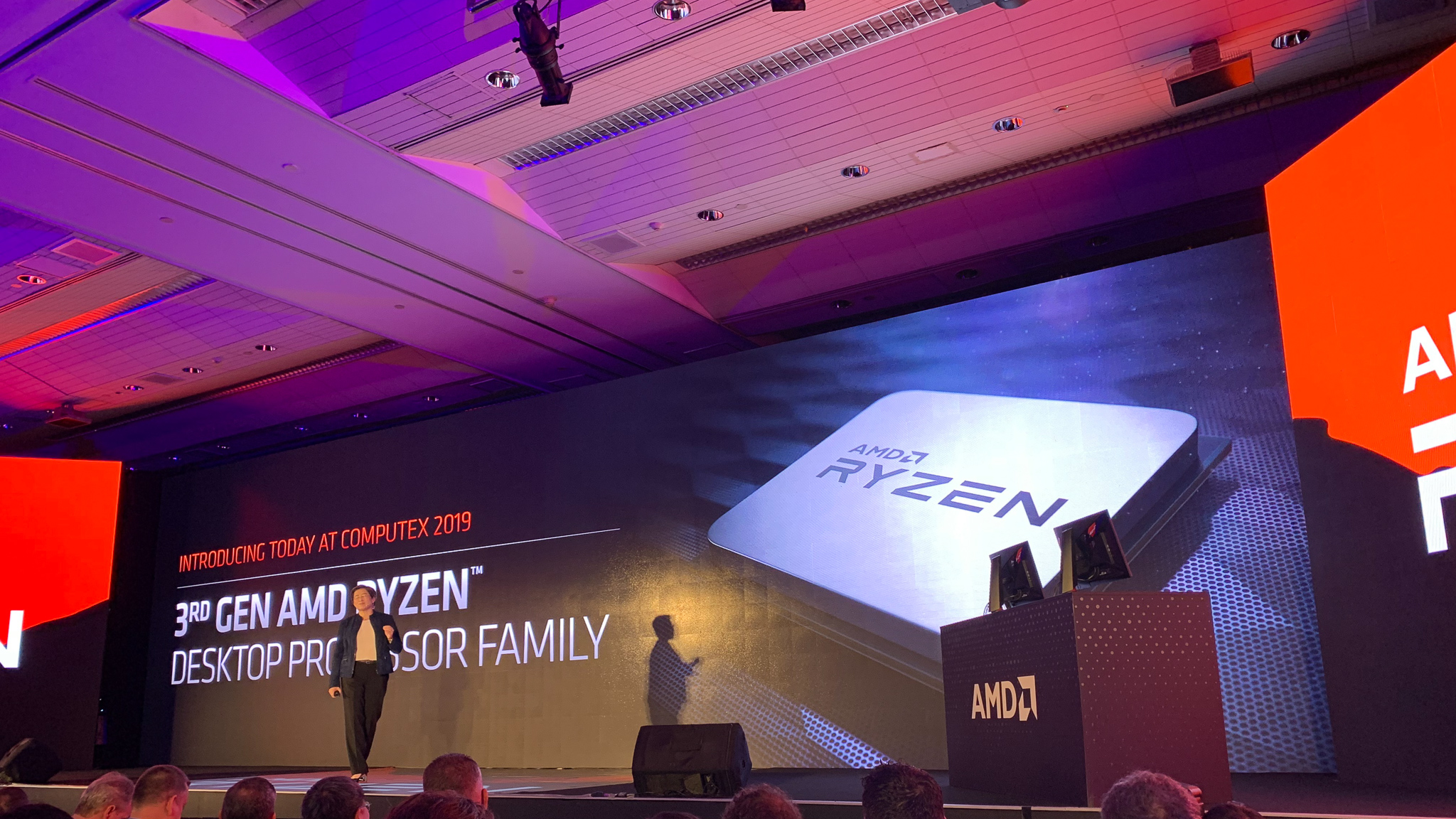 AMD presenting the AMD Ryzen 3rd Generation at CES 2019