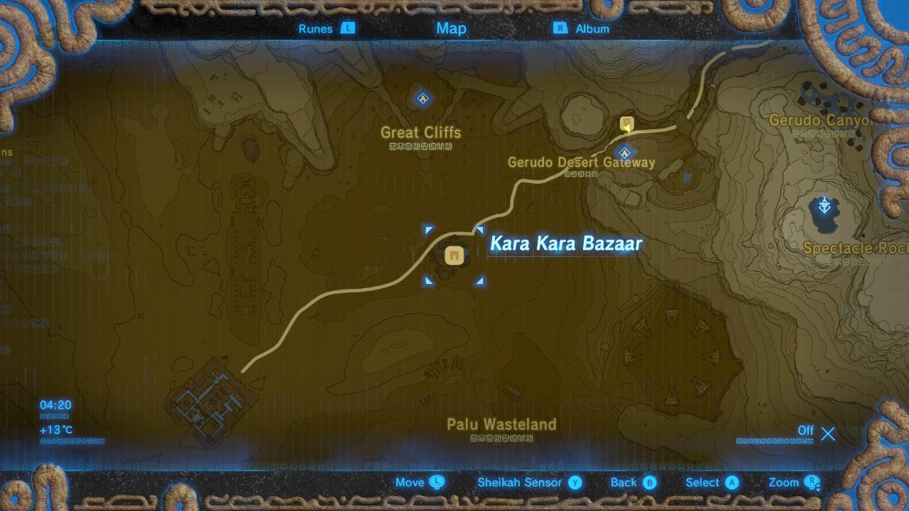 kara kara bazaar location map