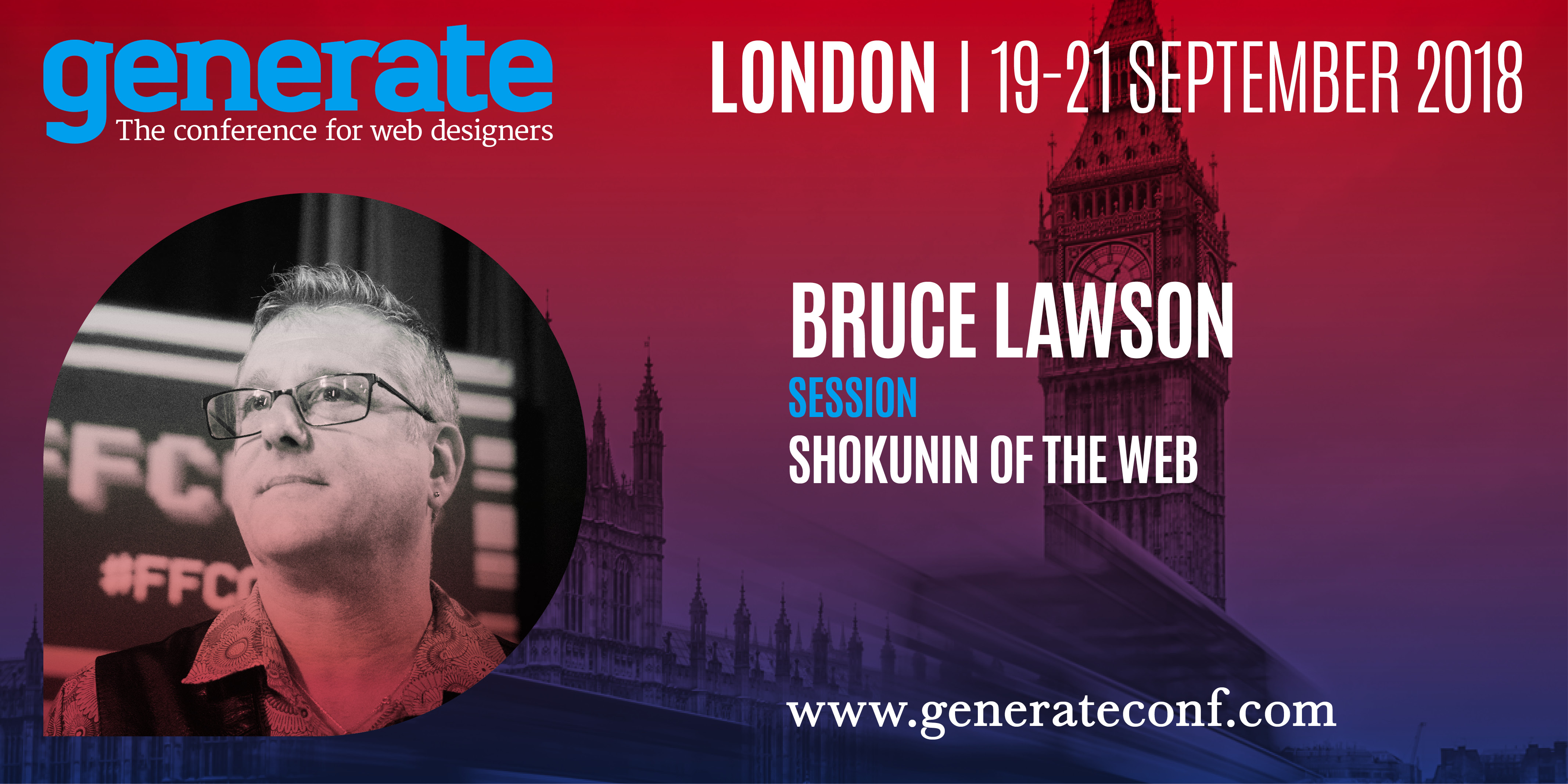 Bruce Lawson is giving his talk Shokunin of the Web at Generate London from 19-21 September 2018.