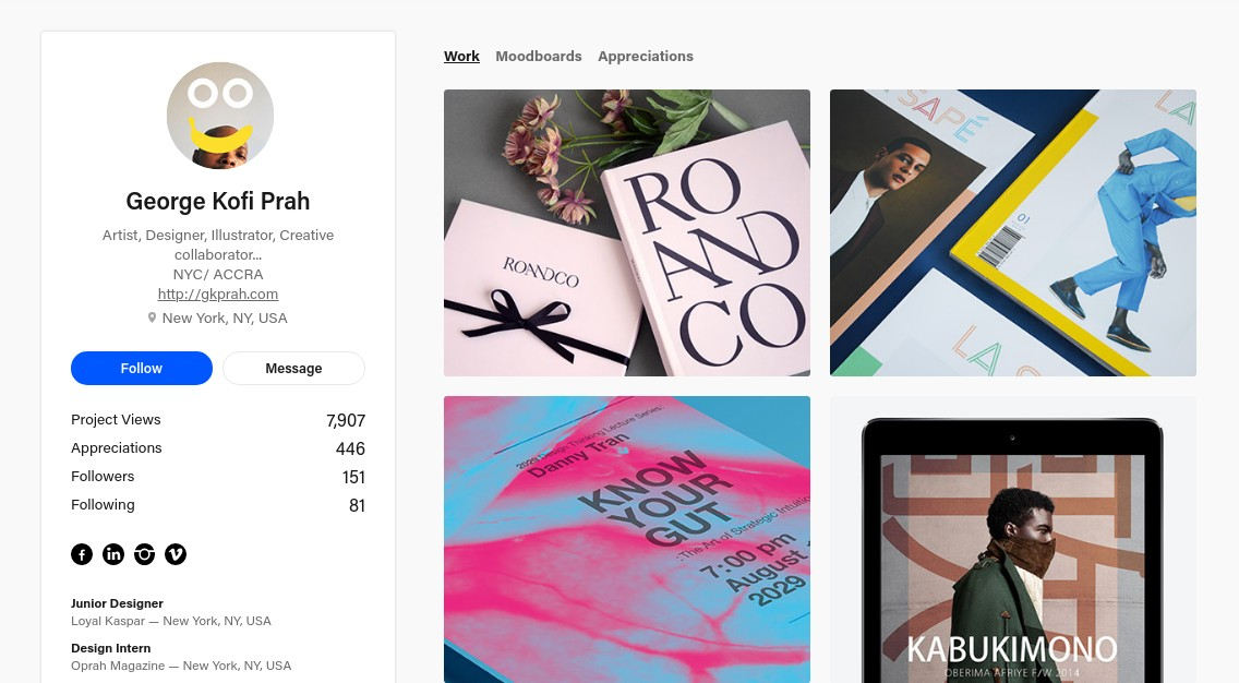 Social media platforms: Work by George Kofi Prah on Behance