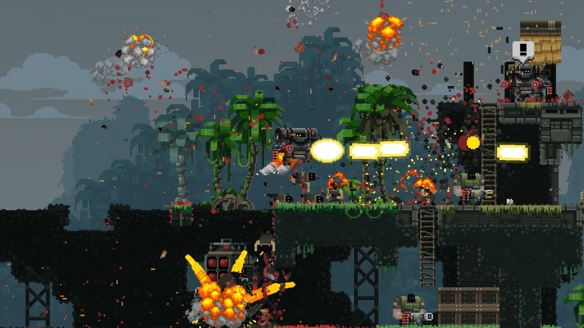 best co-op pc games: Broforce