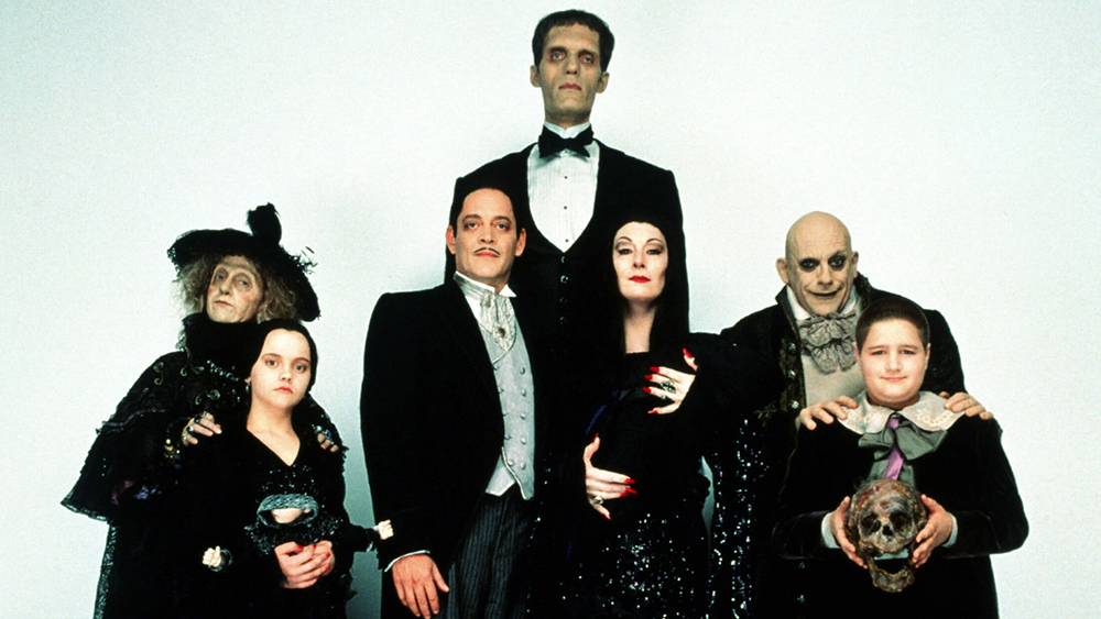 A promo shot for the movie Addams Family Values