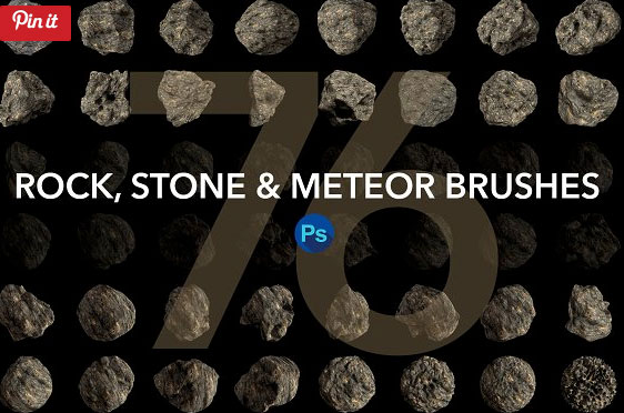 Rock, Stone and Meteor Photoshop brushes