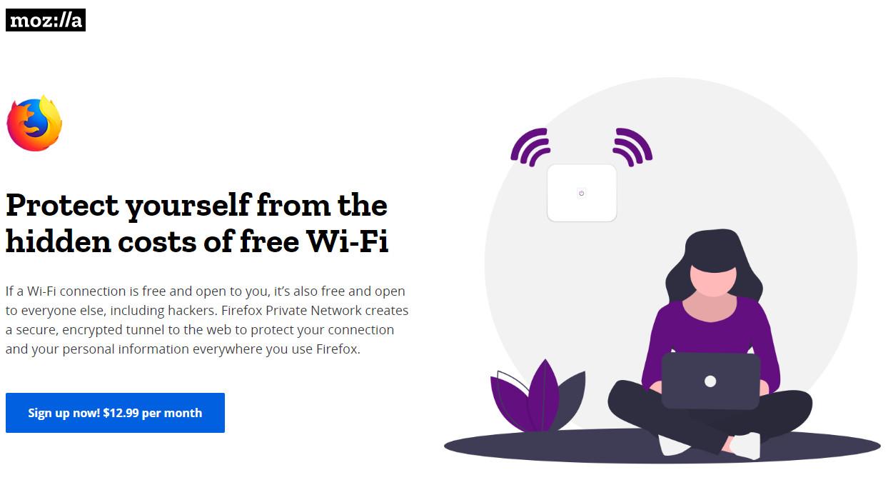 Firefox VPN signup