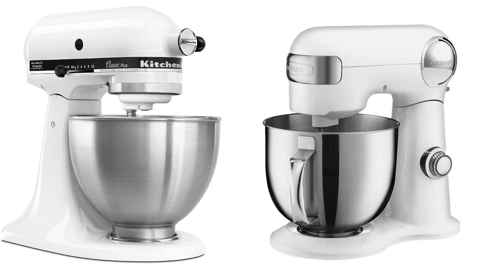 Kitchenaid Vs Cuisinart Which Stand Mixer Should You Buy Top Ten Reviews