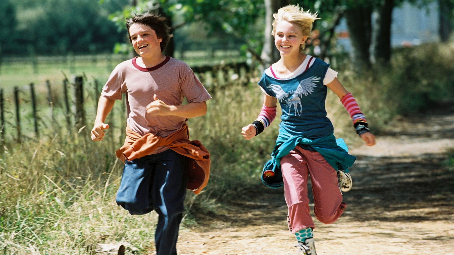 A still from the movie Bridge to Terabithia