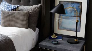Amazon Echo in a hotel room