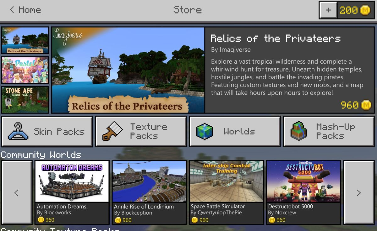 Minecraft to launch new community Marketplace