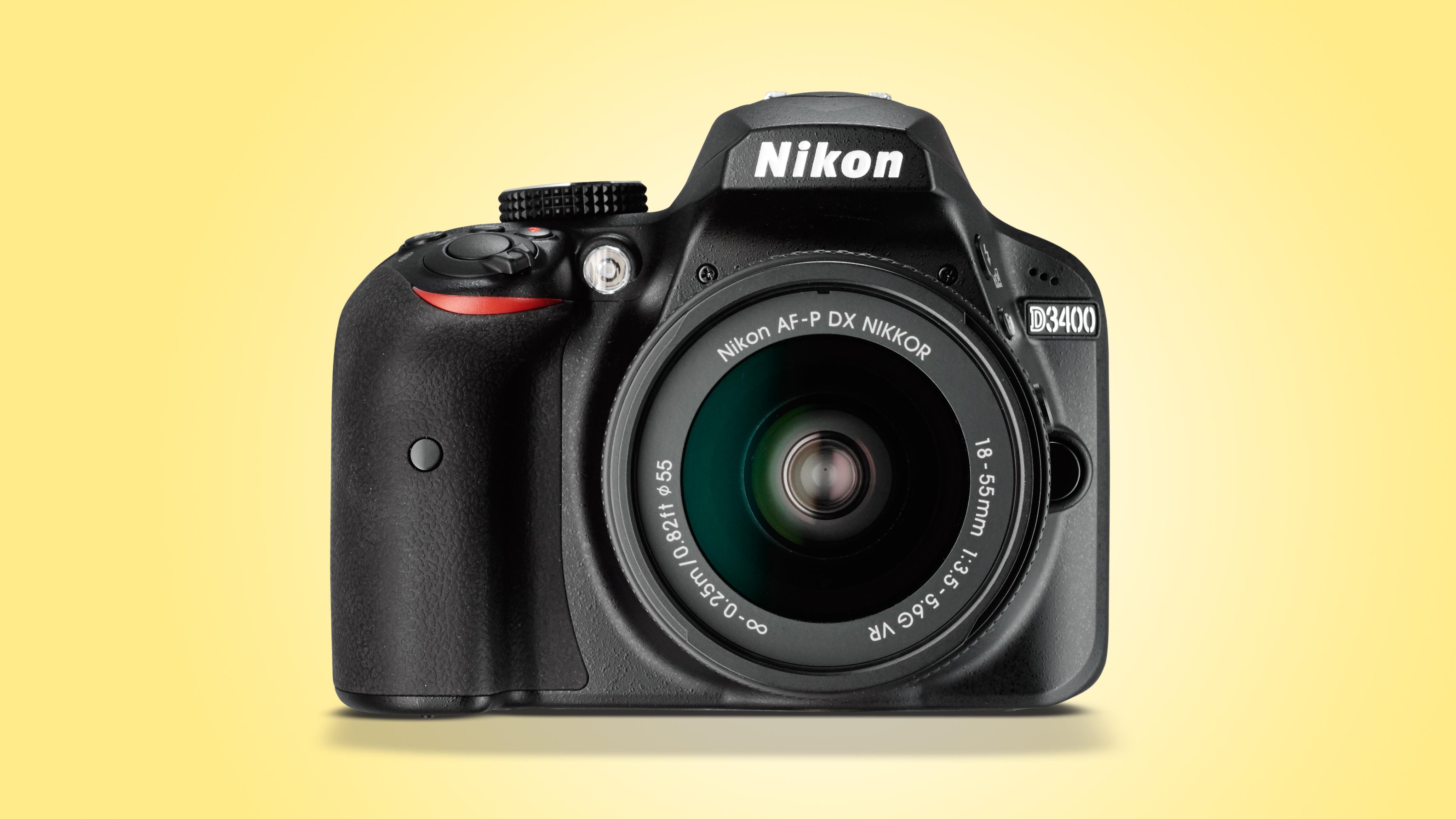 Nikon D3400 side