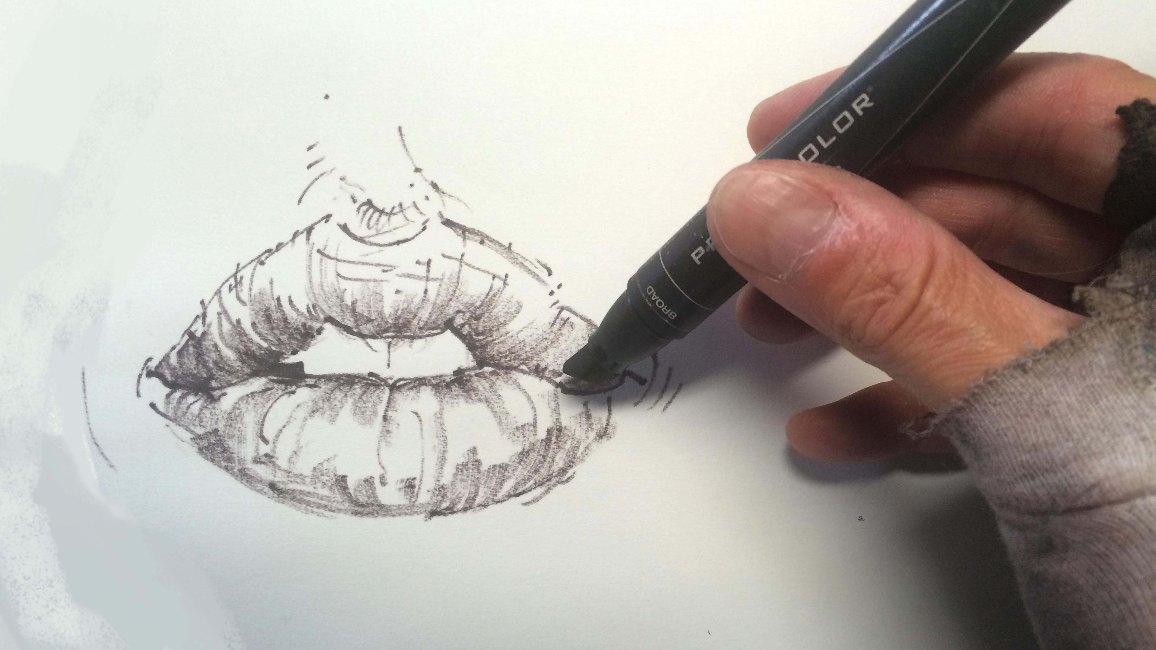 Нарисовано своими руками карандашом