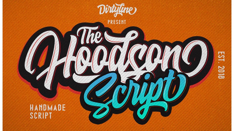 Free graffiti fonts: Hoodson Script