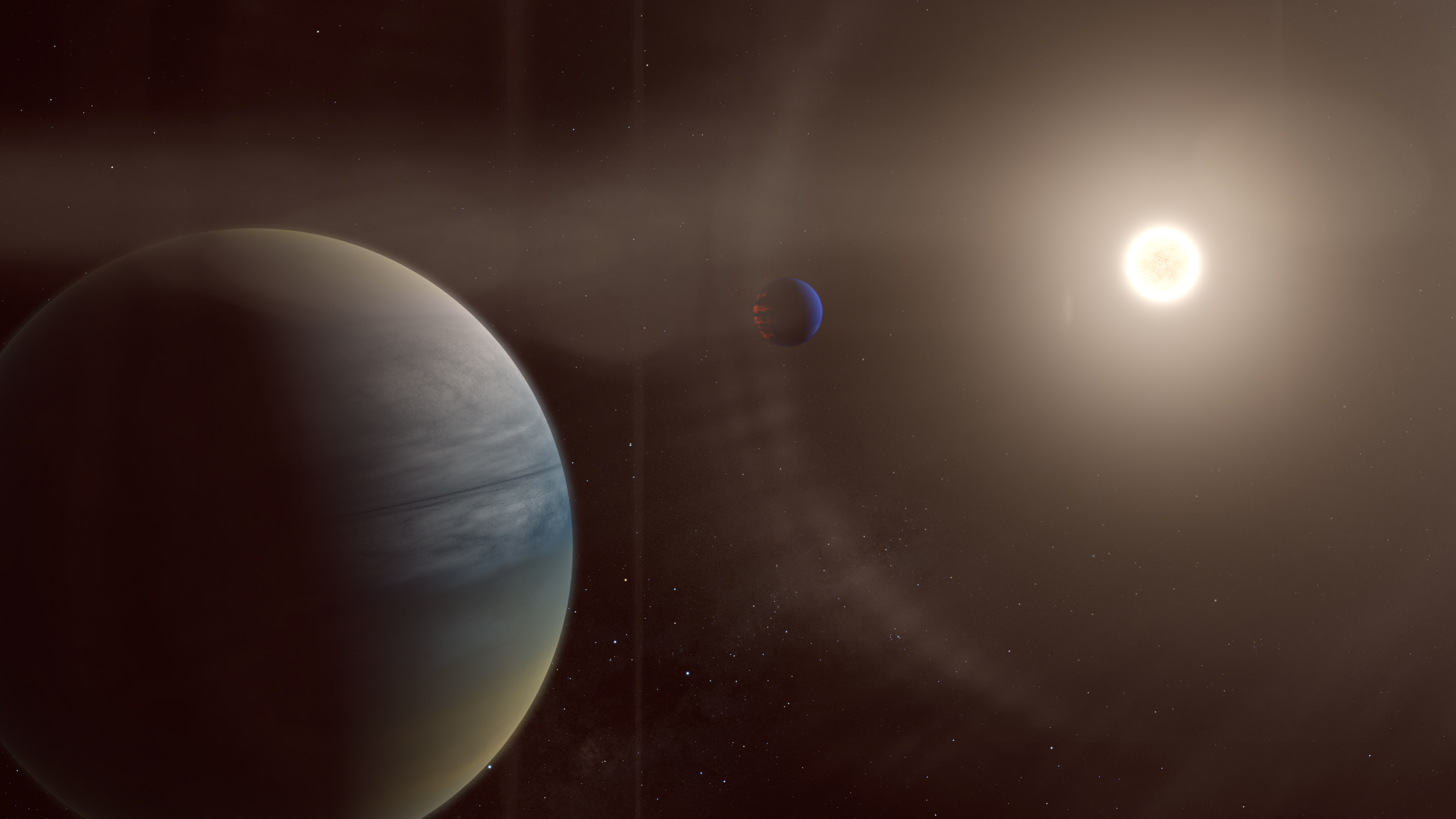 Citizen scientists discover 2 gas giants around a distant sun-like star
