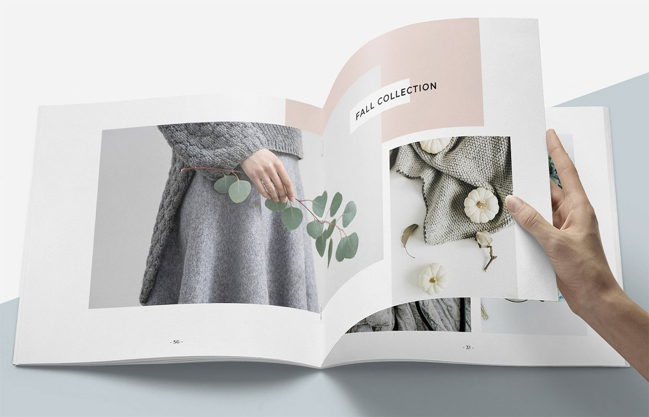 Best brochure templates: Magnolia lookbook