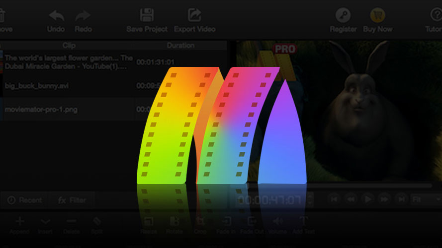Create professional videos with this movie editor