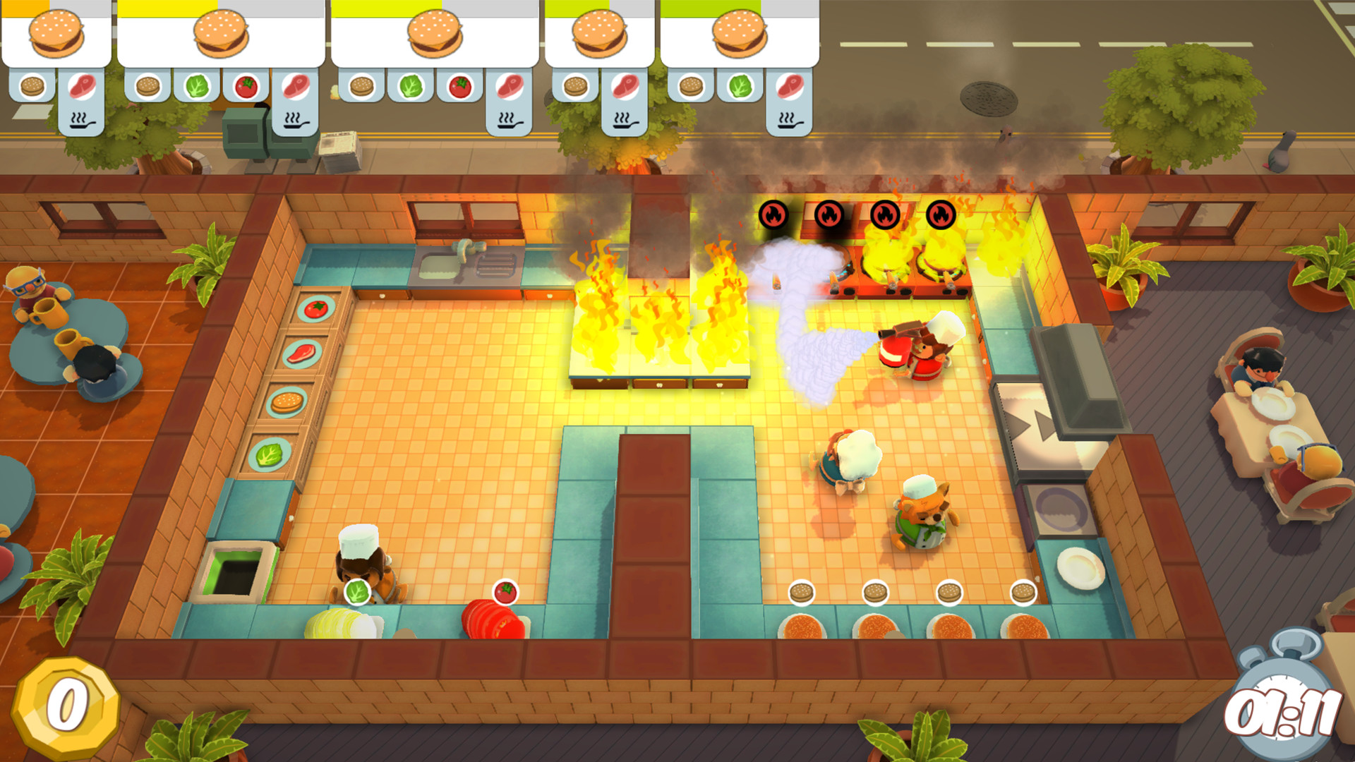 best co-op pc games: Overcooked