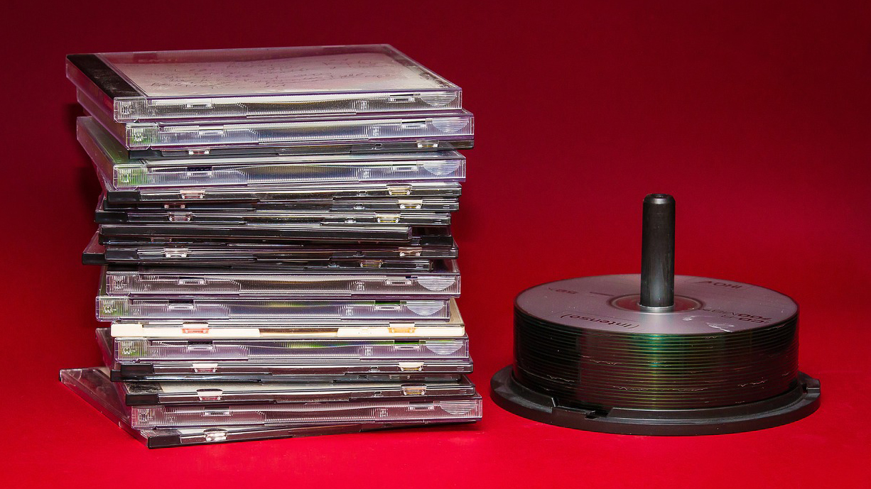 Image of a stack of CDs